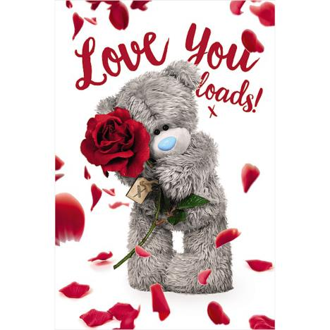 3D Holographic Love You Loads Me to You Bear Valentine