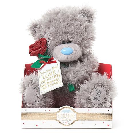 "9"" Holding Rose & Tag Verse Me to You Bear  £19.00"