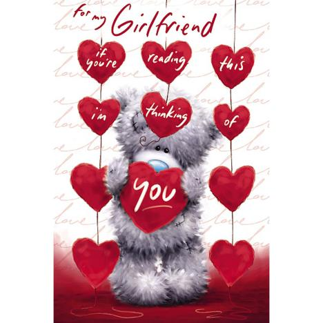 Girlfriend Holding Heart Me to You Bear Valentines Day Card  £2.49