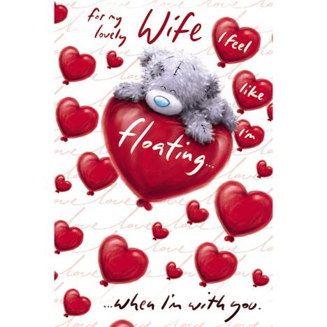 Lovely Wife Softly Drawn Me to You Bear Valentines Day Card  £2.49