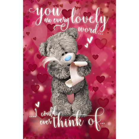 Writing Love Letter Me to You Bear Valentines Day Card  £2.49