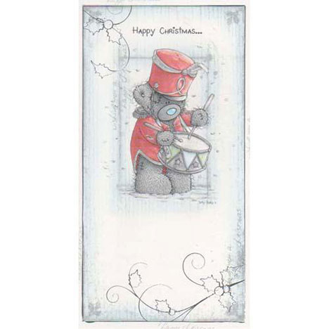 Tatty with Drum Me to You Bear Christmas Card