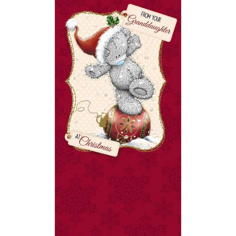 From Your Granddaughter Me to You Bear Christmas Card  £2.19