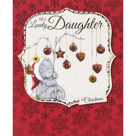 Lovely Daughter Me to You Bear Handmade Christmas Card  £4.99
