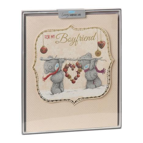 Boyfriend Me to You Bear Handmade Boxed Christmas Card  £5.99