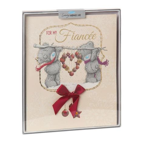 Fiancee Me to You Bear Handmade Boxed Christmas Card  £5.99