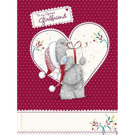 Girlfriend Me to You Bear Christmas Luxury Boxed Card  £9.99