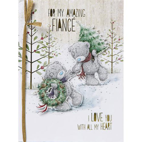 Fiance Me to You Bear Boxed Christmas Card  £9.99