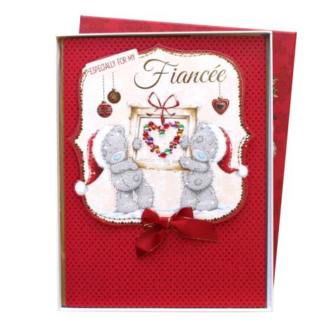Fiancee Me to You Bear Handmade Boxed Christmas Card  £9.99