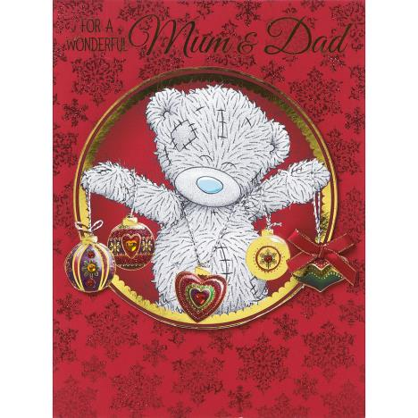 Mum And Dad Me to You Bear Handmade Large Christmas Card  £3.99