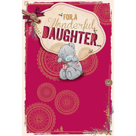 Daughter Me to You Bear Christmas Card  £3.59