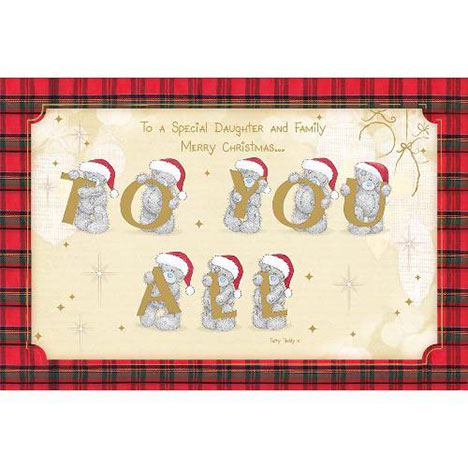 Daughter & Family Me to You Bear Christmas Card  £2.40