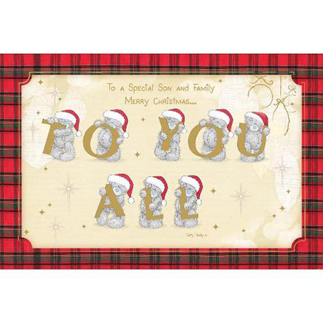 Special Son & Family Me to You Bear Christmas Card  £2.40