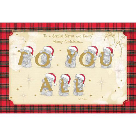 Grandson & Family Me to You Bear Christmas Card  £2.40