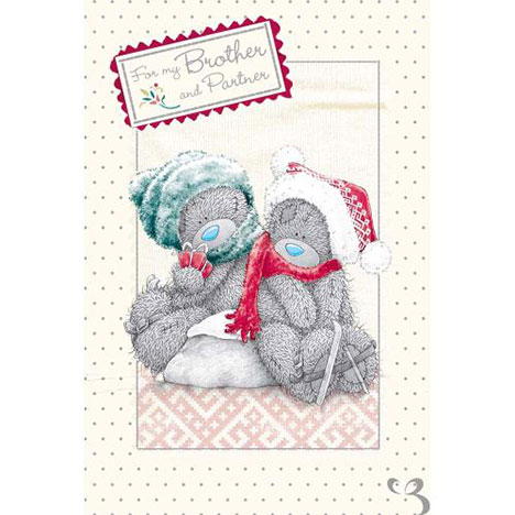 Brother & Partner Me to You Bear Christmas Card  £2.49