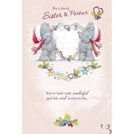 Sister and Partner Me to You Bear Christmas Card  £2.49