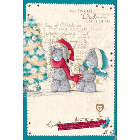 Dad From Both of Us Me to You Bear Christmas Card  £2.49