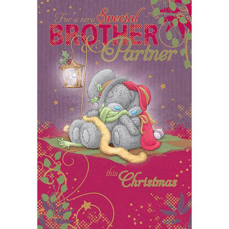 Brother And Partner Me to You Bear Christmas Card  £2.49