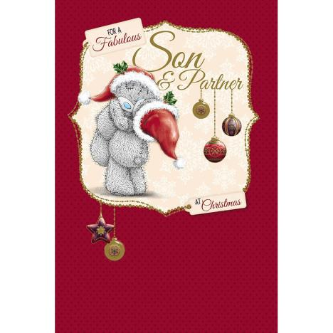 Son And Partner Me to You Bear Christmas Card  £2.49