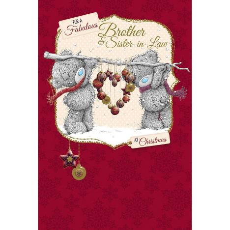 Brother And Sister In Law Me to You Bear Christmas Card  £2.49