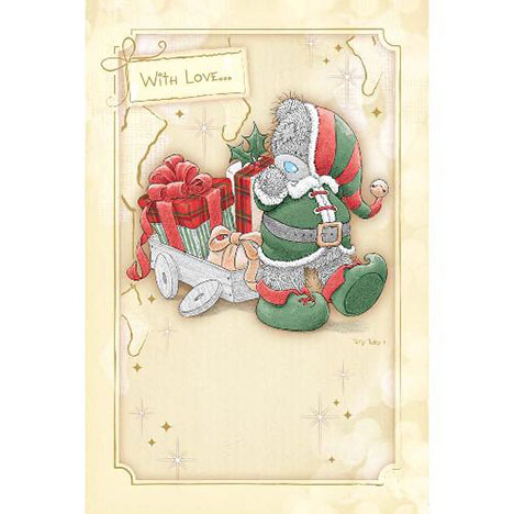 With Love.. Me to You Bear Glittered Christmas Card  £3.45