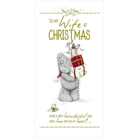 To My Wife At Christmas Me to You Bear Christmas Card  £3.99