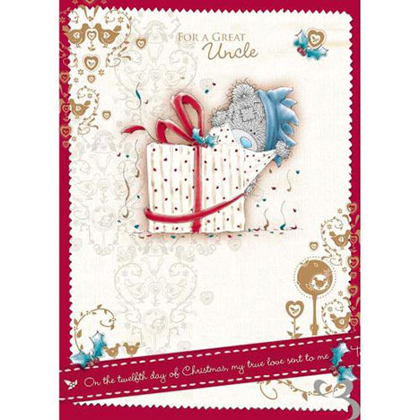 Uncle Me to You Bear Christmas Card  £1.79