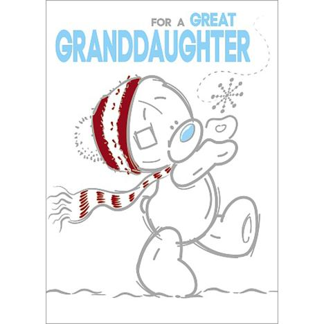 Great Granddaughter Me to You Bear Christmas Card  £1.79