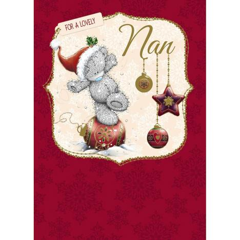 Nan Me to You Bear Christmas Card  £1.79