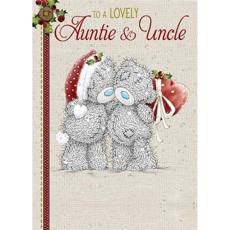 Lovely Auntie and Uncle Me to You Bear Christmas Card  £1.79
