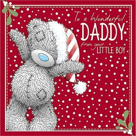 Wonderful Daddy From Your Little Boy Me to You Bear Christmas Card  £2.49
