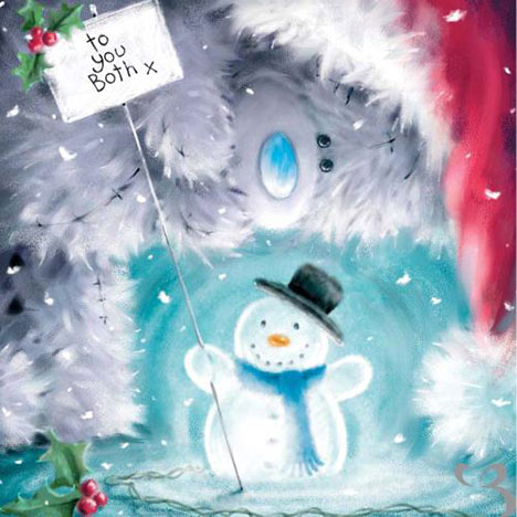 To You Both Me to You Bear Christmas Card  £2.09