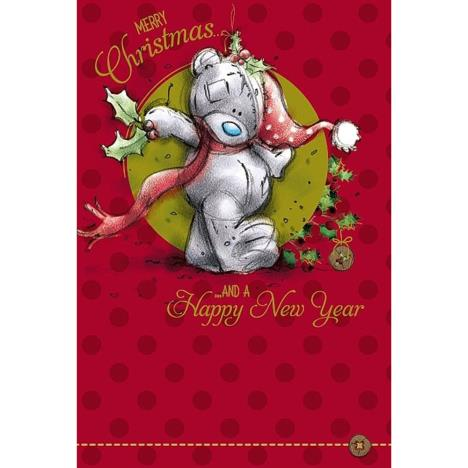 Merry Christmas Bear With Holly Me to You Bear Christmas Card  £2.49