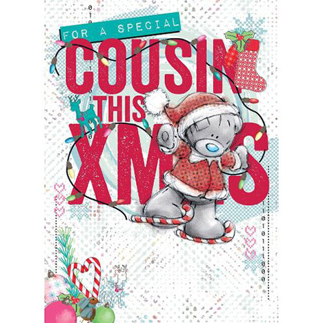 Cousin Me to You Bear Christmas Card  £1.79
