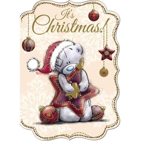 Tatty Teddy Holding Large Star Me to You Bear Christmas Card  £1.79