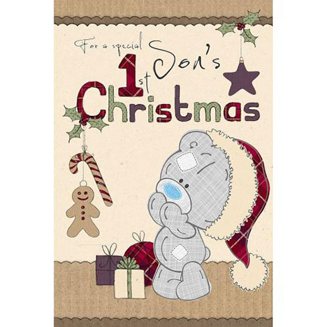 Sons 1st Xmas Me to You Bear Christmas Card  £2.49