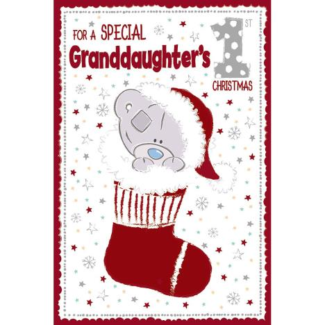 Special Granddaughters 1st Christmas Me to You Bear Christmas Card  £2.49