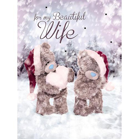 Wife Me to You Bear Boxed Christmas Card  £9.99