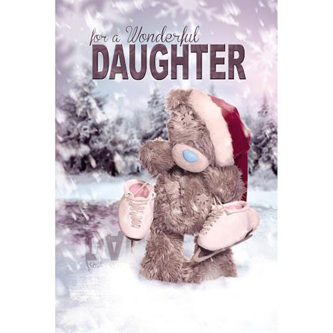 3D Holographic Daughter Me to You Bear Christmas Card  £3.79