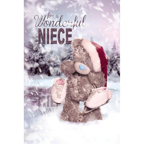 3D Holographic Niece Me to You Bear Christmas Card  £3.79