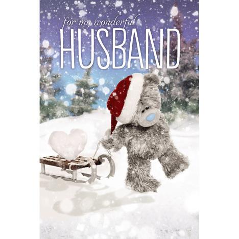 3D Holographic Husband Me to You Bear Christmas Card  £3.79