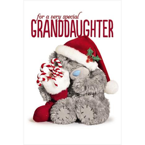 3D Holographic Granddaughter Me to You Bear Christmas Card  £3.79