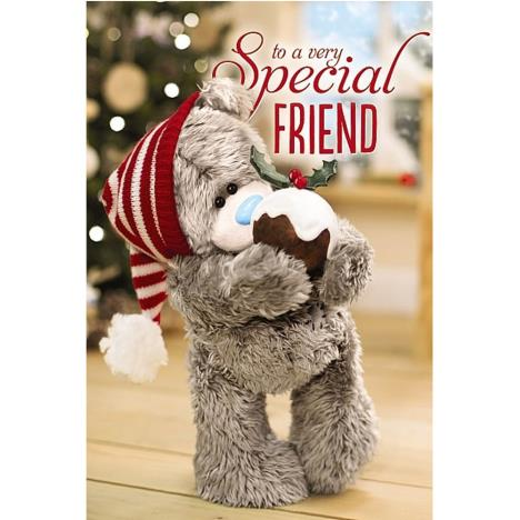3D Holographic Special Friend Me to You Bear Christmas Card  £4.25