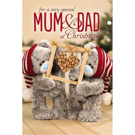 3D Holographic Special Mum and Dad Me to You Bear Christmas Card  £4.25