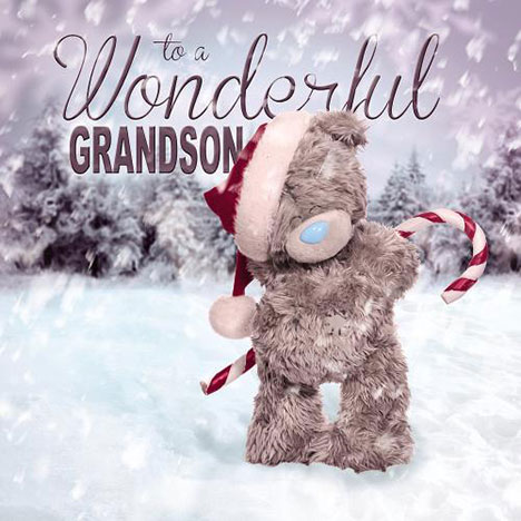 3D Holographic Grandson Me to You Bear Christmas Card  £2.99