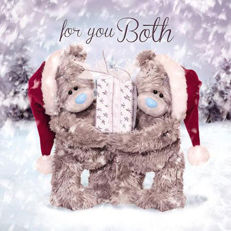3D Holographic Both Of You Me to You Bear Christmas Card  £2.99