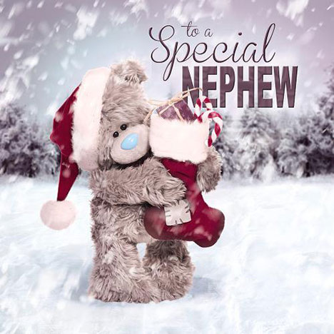 3D Holographic Nephew Me to You Bear Christmas Card  £2.99