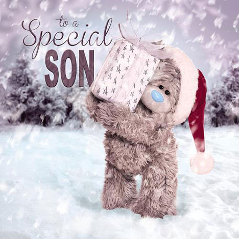 3D Holographic Son Me to You Bear Christmas Card  £2.99