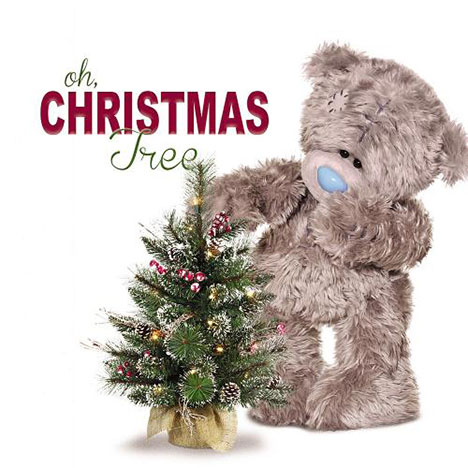 3D Holographic Xmas Tree Me to You Bear Christmas Card  £2.99
