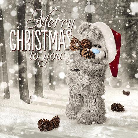 3D Holographic Merry Christmas Me to You Bear Card  £2.99